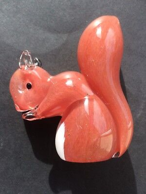 "LANGHAM GLASS SQUIRREL - Approx 3.5"" Signed On Base Super Condition"