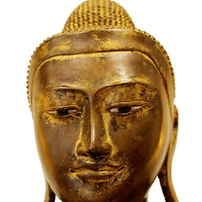 Late 18Th Early 19Th Century Burmese Gilded Buddha Statue/sculpture