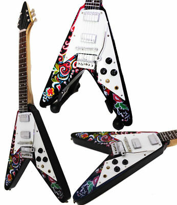 Baby Axe Jimi Hendrix Flying V Guitar Miniature Instrument 25 cm Boxed Gift