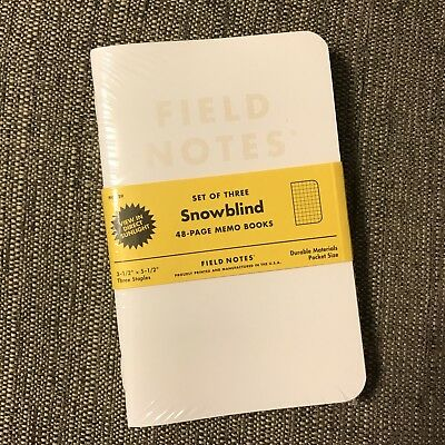 Field Notes Snowblind COLORS Winter 2015 Edition Memo Books NEW Sealed