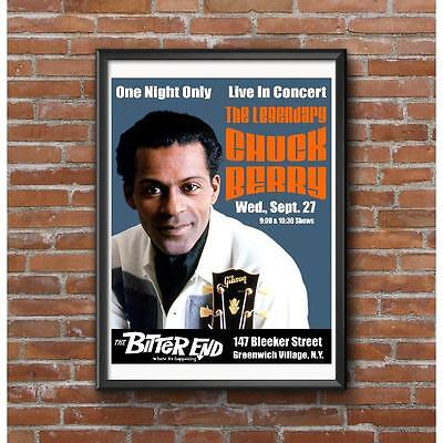 Chuck Berry 1961 Live In Concert Poster - Bitter End Night Club New York
