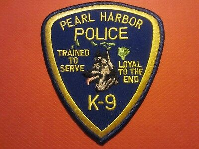 Collectible Hawaii Police Patch Pearl Harbor K9, New