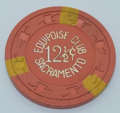 Equipoise Club 12.5¢ Casino Chip Sacramento California H&C CJ FREE SHIPPING