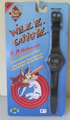 1990 Upper Deck Wile E. Coyote Chicago Cubs 3-D Holograph Watch- New in package!