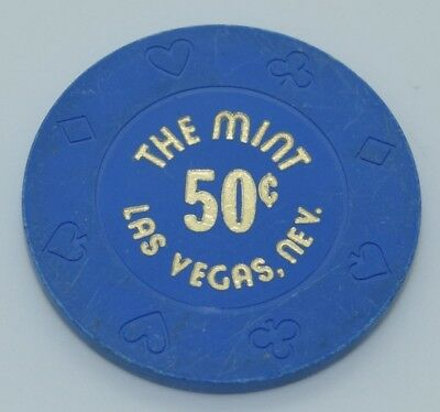 The Mint 50¢ Casino Chip Las Vegas Nevada 8-Suits Mold 1989 FREE SHIPPING