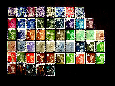 GB Regionals WALES SELECTION 52 Definitives all Used and Different