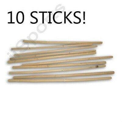 10 Multi Node Thin Filipino Escrima Kali Arnis Plain Rattan Sticks taekwondo LOT