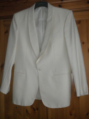 YOUNGS FORMAL WONDERFUL CREAM DINNER JACKET SIZE 40 ins