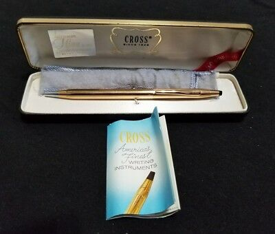 Cross 14KT Gold Filled Pen With Case