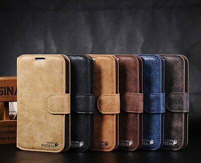 Newest Luxury Suede Leather Flip wallet Case Cover For Samsung Galaxy Note 2 & 3