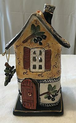 Olive Grove Tea Light Candle House  Blue Sky Clayworks by Heather Goldminc