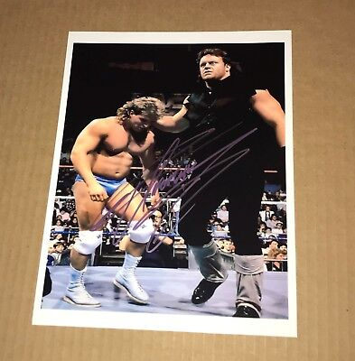 Wwe The Undertaker Autographed Wrestling Photo Extremely Rare The Deadman Ut10