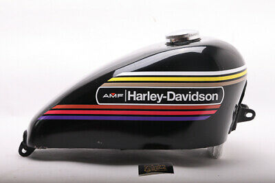 1972 XLH XLCH SMALL Peanut BLACK Sportster decal w//logo/'s for AMF Harley