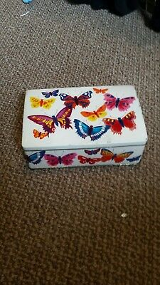 Butterfly storage tin