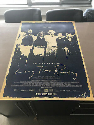 2017 The Tragically Hip 27x39 Long Time Running Theatrical Release Movie Poster