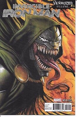 Marvel Comics INVINCIBLE IRON MAN #11 first printing Venomized Villains variant