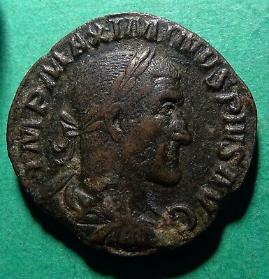*Tater* Roman Imperial ae Sestertius Coin of Maximinus I    VICTORY