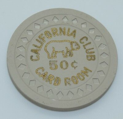 California Club 50¢ Casino Chip Las Vegas Nevada Diamond Mold 1951 FREE SHIPPING