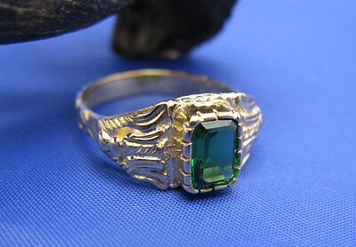 14k Gold Handcrafted Artisan Atocha Royalty Ring Look Alike by Crisol Jewelry