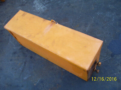 Vintage Minneapolis Moline Ztu  Tractor -Tool  Box Assy- Nice - For Rat Rod ?