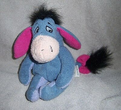 Disney Store Mini Bean Bag Huggy Eeyore - 9""