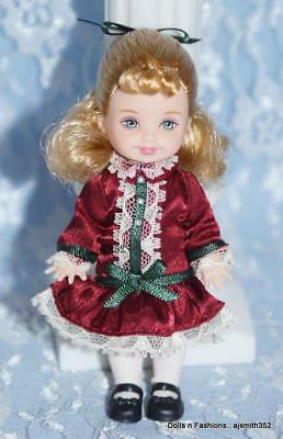 Gorgeous Holiday Kelly Doll Blonde Hair Burgundy Dress Dressed Doll ONLY Loose