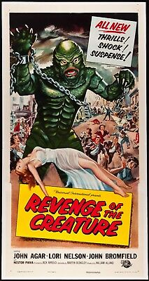 Revenge Of The Creature  Three Sheet from 1955 in Very Fine + Condition