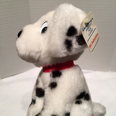 Vintage With Original Tag 101 Dalmations Plush Patch Dog Walt Disney Productions