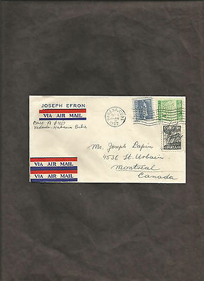 Postal History Cover From Joseph Efron Havana To Montreal 1952
