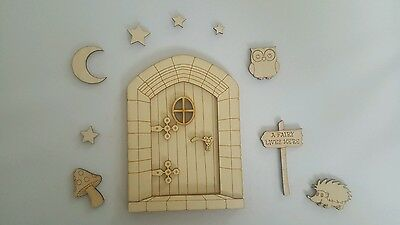 Wooden Fairy Door DIY for home or Fairy Garden Decor Twilight Critters