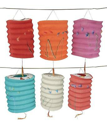 12 Paper Party Lanterns Appx 5 Inches Assorted Colors & Shapes Lantern Festival