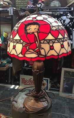 Betty Boop Stained Glass Lamp #2 - Danbury Mint 2005 - RARE