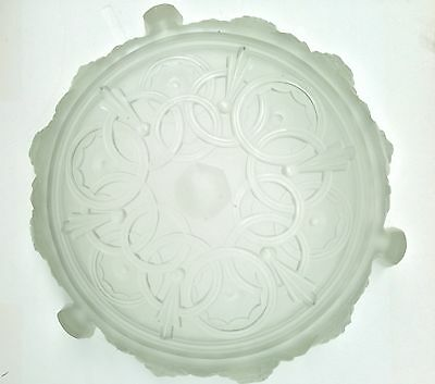 FR Art Deco Signed SABINO Glass Shade for Ceiling Mount/Penchant Chandelier