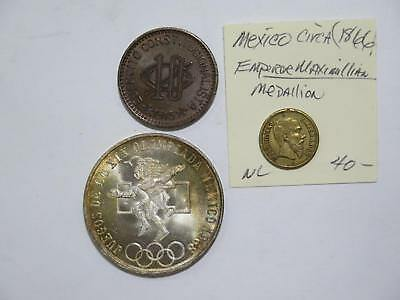 Mexico 25 Centavos Olympic Toned 1915 10 Chihuahua Max Medal Coin Collection Lot