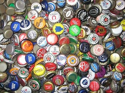 1000+ ASSORTED BEER BOTTLE CAPS (50+ Different) Many Colors!!!