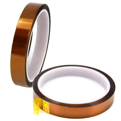 2 Rolls 10mm 100ft Gold Polyester Film Koptan Heat Resistant Tape Sublimation