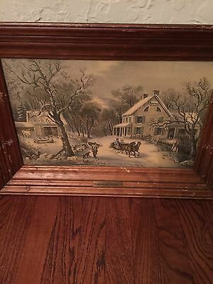 American Homestead Winter 1869. Currier & Ives