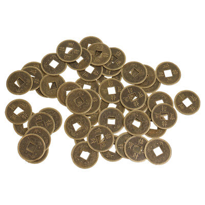 50pcs Feng Shui Coins 2.3cm/0.9'' Ancient Chinese I Ching Coins for Wealth