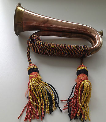 "Copper & Brass Bugle Horn - 11"" long"