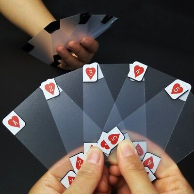 Creative transparent plastic poker crystal waterproof playing cards  Table Game