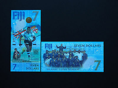 Fiji Islands   Rugby  $7  Banknotes  -  Brilliant New Issue Notes Mint Unc