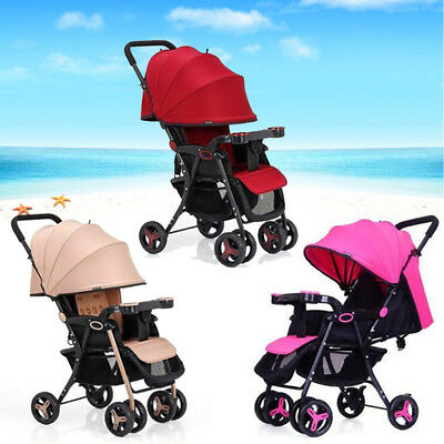 Folding Baby Stroller Pram Lightweight Buggy Travel System Jogger Kid Pushchair