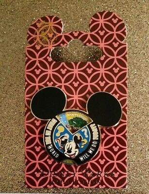 Disney Mickey mouse spinner pin what in the world will we do today NEW