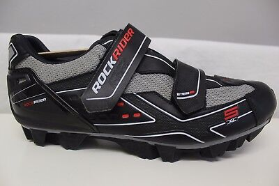 BN Rockrider Cycling MTB Black Grey Red Shoes Size Size UK 8 New
