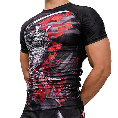 Warrior Spirit Men's Rash Guards, BJJ, Jiu Jitsu, Grappling, No Gi, MMA, Gym