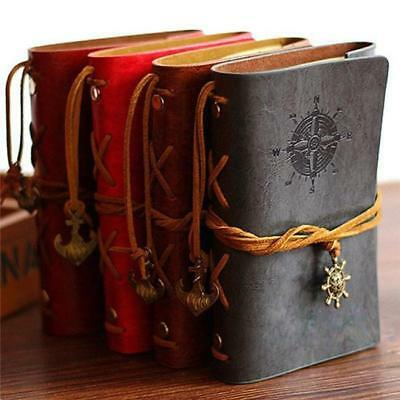 Pirate Style Notebook Journal Diary Book Spiral Ring Binder Notepad PU Leather B