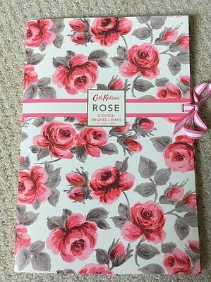 Cath Kidson Rose Scented Drawer Liners 6x 33.5cm X 50cm