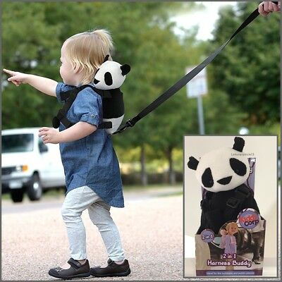 Goldbug Harness Buddy Walking Reins Backpack for Child Toddler PANDA 2 in 1