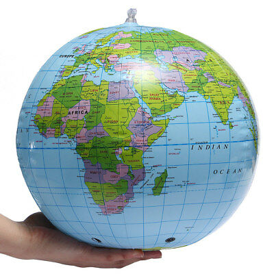 100X 38cm Inflatable World Globe Earth Map Geography Beach Ball Kid ToyEducation