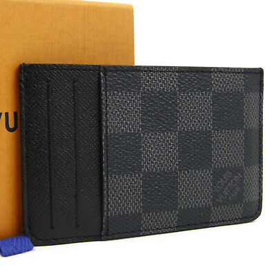 Louis Vuitton Damier Graphite Neo Porte Cartes Card Case N62666 Authentic #2897